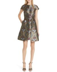 Ted Baker - Ice Palace Metallic Detail Skater Dress - Lyst