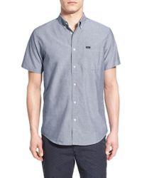 RVCA | 'that'll Do' Slim Fit Short Sleeve Oxford Shirt | Lyst