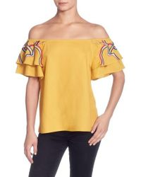 Catherine Malandrino - Ilka Off The Shoulder Top - Lyst