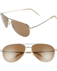 Oliver Peoples Benedict 59mm Aviator Sunglasses - Soft Gold/ Brown - Multicolor