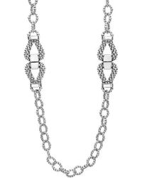 Lagos - Derby Caviar Link Necklace - Lyst
