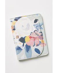 Anthropologie Maribel Faux Leather Passport Holder - Multicolour