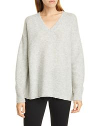 Nordstrom - V-neck Cashmere & Silk Sweater - Lyst