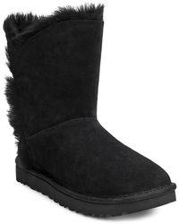 Ugg Classic Short Fluff Highlow Boot Black
