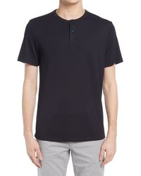 Theory Gaskell Solid Henley - Black