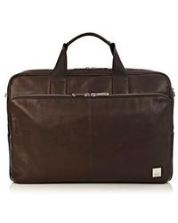 Knomo - Brompton Amesbury Leather Briefcase - Lyst