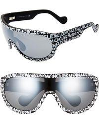 Moncler 155mm Mirrored Shield Sunglasses - Metallic