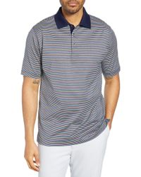 Bobby Jones Bliss Luxe Stripe Polo - Blue