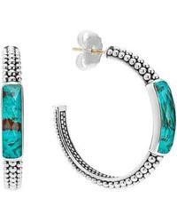 Lagos - 'maya' Caviar Hoop Earrings - Lyst