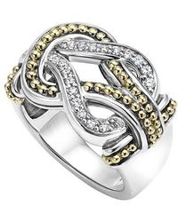 Lagos - 'newport' Diamond Knot Ring - Lyst