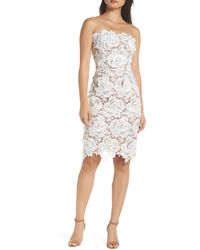 Adelyn Rae Jade Strapless Lace Dress - White