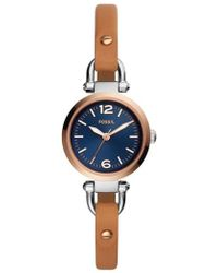 Fossil - Georgia Leather Strap Watch - Lyst