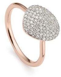 Monica Vinader - Nura Diamond Pebble Ring - Lyst