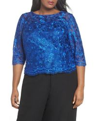 Alex Evenings - Embroidered Blouse - Lyst