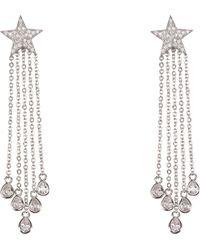 Nina Star Fringe Earrings - Metallic