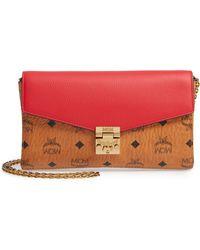 7f18ef14c68e MCM - Millie Medium Leather   Canvas Crossbody Bag - - Lyst