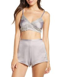 Rya Collection Artisan Bralette & Shorts Set - Gray
