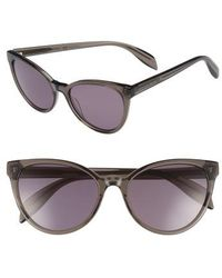 Alexander McQueen - 55mm Cat Eye Sunglasses - - Lyst