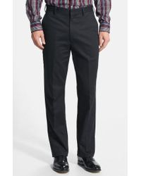 Berle - Flat Front Wrinkle Resistant Cotton Trousers - Lyst