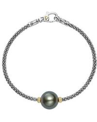 Lagos - Luna Pearl Single Station Bracelet - Lyst