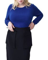 UNIVERSAL STANDARD - Raquette Stripe Cashmere Sweater - Lyst
