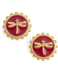 Vince Camuto - Dragonfly Charm Stud Earrings - Lyst