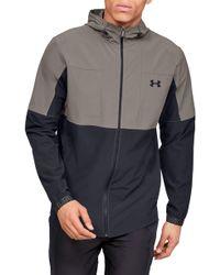 Under Armour Vanish Hybrid Zip Hooded Jacket - Brown