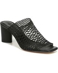 Veronica Beard Kasi Block Heel Slide Sandal - Black