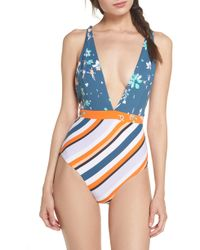 2f0a512561206 Maaji Chromatic Rainbow One Piece Swimsuit in Blue - Save 35% - Lyst