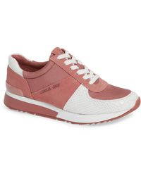 Michael Kors Michael Allie Lace Up Sneakers - Pink