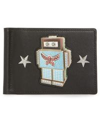MCM - Roboter Series Leather Money Clip Card Case - - Lyst