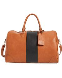 Sole Society 'robin' Faux Leather Weekend Bag - Brown