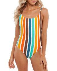Rhythm - Zimbabwe Scoop One-piece Swimsuit - Lyst