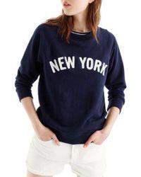 J.Crew - New York Sweatshirt - Lyst