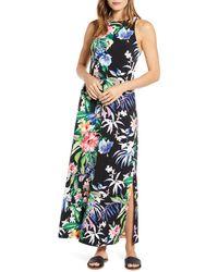 Tommy Bahama Hermosa Sleeveless Floral Maxi Dress - Black