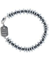 King Baby Studio - Hematite Bead Bracelet - Lyst