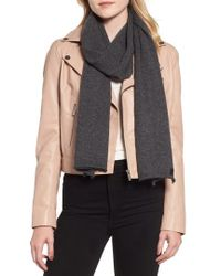 AllSaints - Rolled Ends Wool & Cashmere Scarf - Lyst