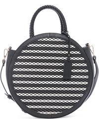 Sole Society Nikole Faux Leather Crossbody Bag - Black