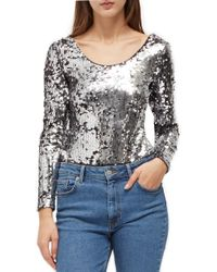 French Connection - Zena Sequin Top - Lyst