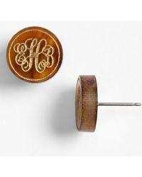 Moon & Lola | 'chelsea' Small Personalized Monogram Stud Earrings (nordstrom Exclusive) | Lyst