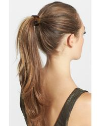 France Luxe Elodie Cuff Ponytail Holder - Brown