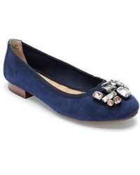 Me Too - Sapphire Crystal Embellished Flat - Lyst