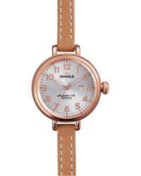 Shinola - The Birdy Leather Strap Watch - Lyst
