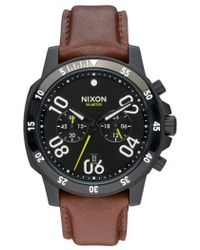 Nixon | 'the Ranger' Chronograph Leather Strap Watch | Lyst