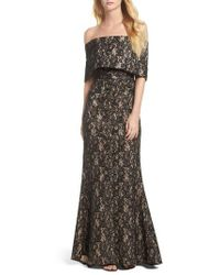 Vince Camuto - Vine Camuto Sequin Off The Shoulder Gown - Lyst