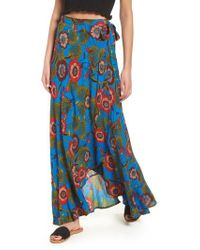 Band Of Gypsies - Heirloom Blossom Maxi Wrap Skirt - Lyst
