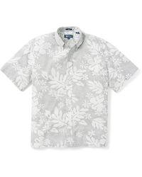 Reyn Spooner Dotty Pualani Short Sleeve Button-down Camp Shirt - White