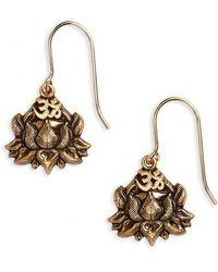 ALEX AND ANI - Lotus Peace Petals Drop Earrings - Lyst