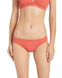 Seafolly - Inka Ribbed Bikini Bottoms - Lyst