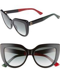 Gucci - 53mm Cat Eye Sunglasses - - Lyst